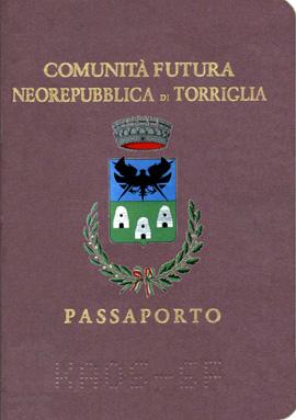 Passaporto Ufficiale della NeoRepubblica di Torriglia