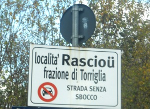 Raschio/Rascioü cartello