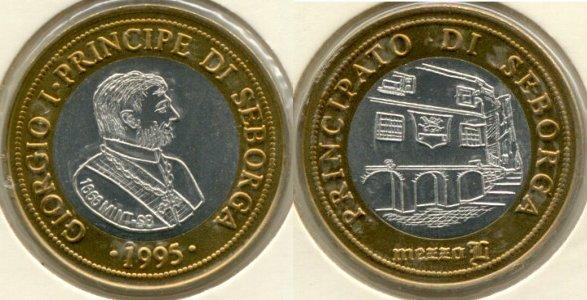 Moneta da 2 luigini del Principato di Seborga