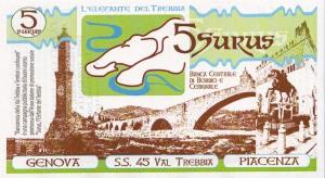 Banconota da 5 Surus della Banca Centrale di Bobbio e Cerignale