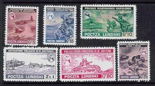 Francobolli polacchi dell'Isola di Lundy (1940)