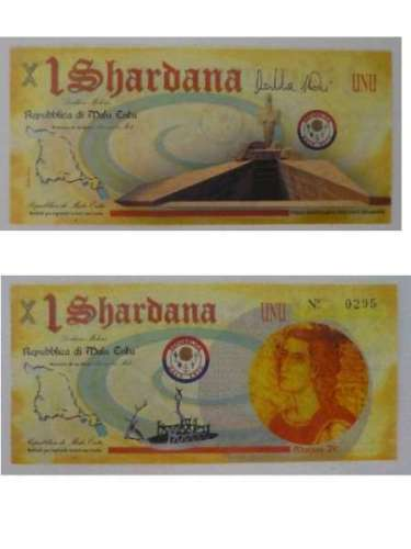 Banconota da 1 shardana di Malu Entu (2009)