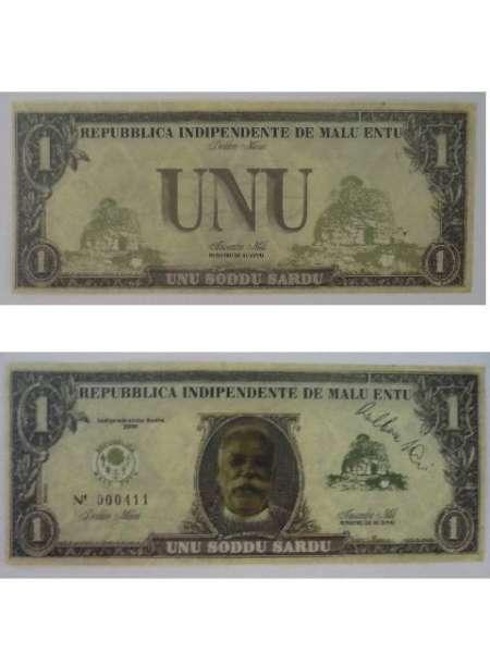 Banconota da 1 soddu di Malu Entu