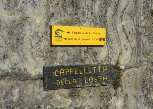 Cappella della Costa cartello