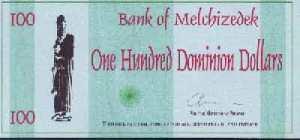 Banconota di Melchizedek da 100 Dominion Dollar