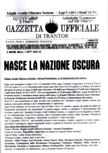 Gazzetta Ufficiale di Trantor n.1