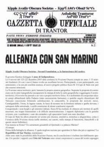 Gazzetta Ufficiale di Trantor n.2