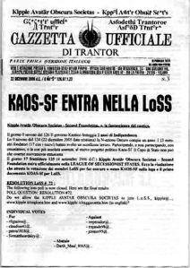 Gazzetta Ufficiale di Trantor n.3