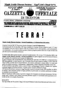 Gazzetta Ufficiale di Trantor n.4