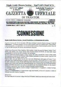 Gazzetta Ufficiale di Trantor n.5