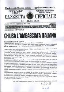 Gazzetta Ufficiale di Trantor n.7