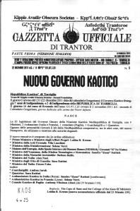 Gazzetta Ufficiale di Trantor n.8