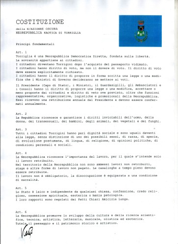 Costituzione pagina 1