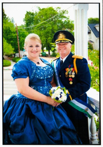 Il Presidente della Repubblica di Molossia Kevin Baugh e la First Lady