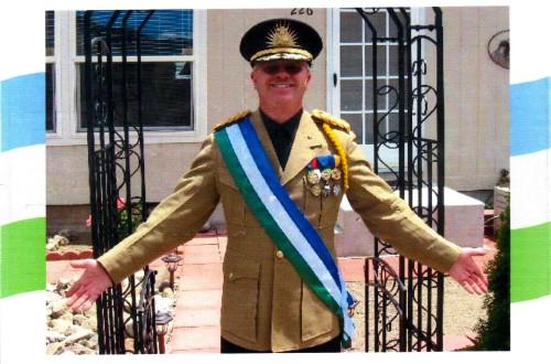 Il Presidente della Repubblica di Molossia Kevin Baugh