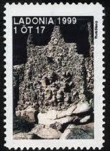 Francobollo da 1 Ortug di Ladonia (1999)