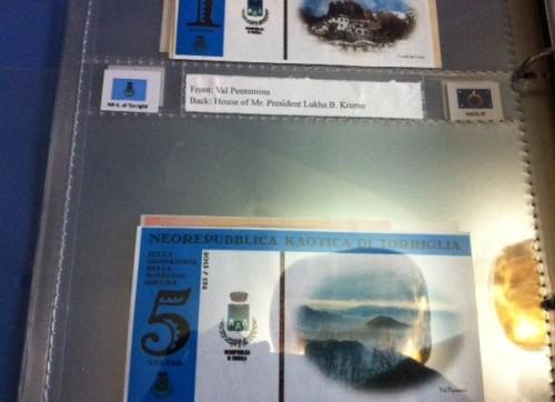 Banconote della Neorepubblica di Torriglia in una collezione