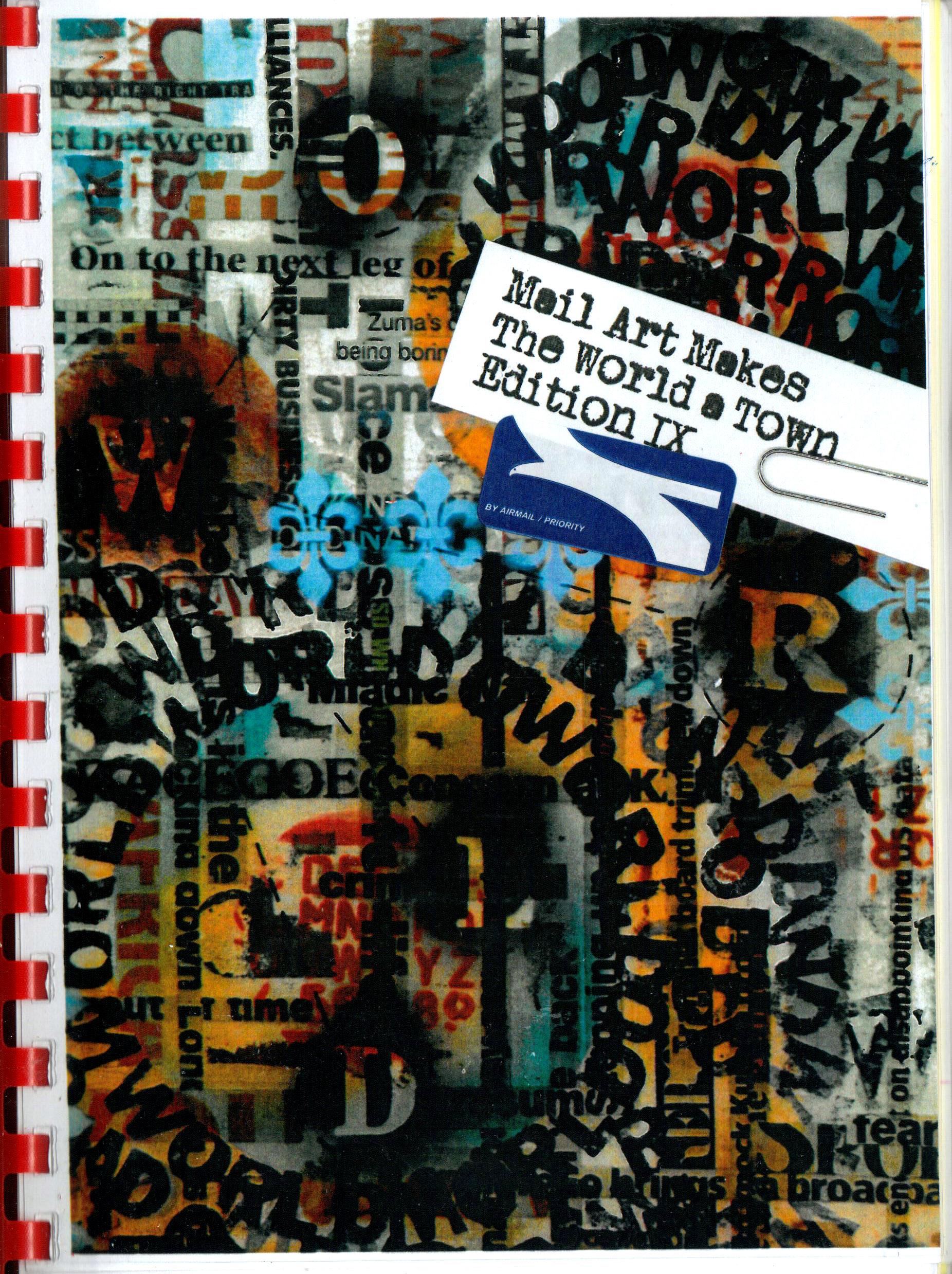 Mail Art Makes The World a Town Edition IX by Cheryl Penn