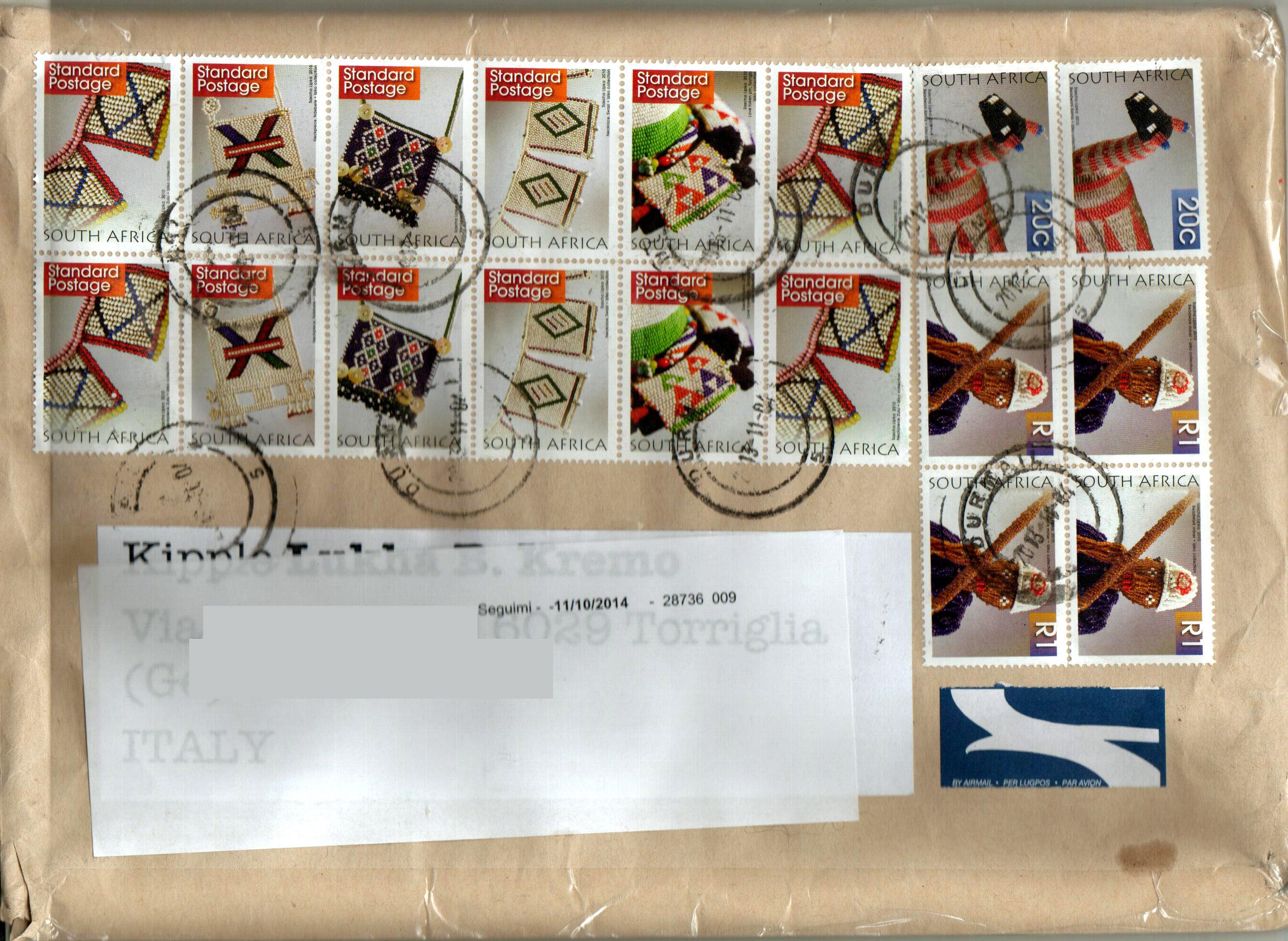 Busta contenente il progetto Mail Art Makes World a Town Edition IX