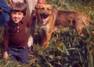 Kremo con Dudù nel 1974