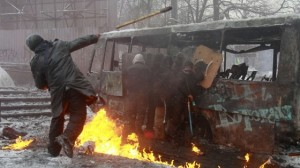 Disordini a Kiev