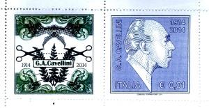 Francobolli del Centenario di G. A. Cavellini