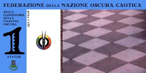 Banconota Nazione Oscura da 1 avatar (verso)
