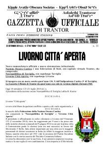 Gazzetta Ufficiale di Trantor n.11
