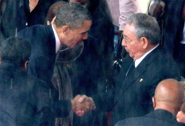 Barck Obama e Raoul Castro
