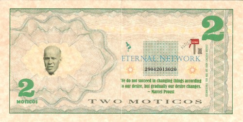 Banconota da 2 Moticos, recto, KOSS LABS