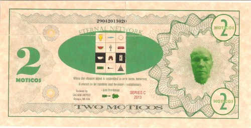 Banconota da 2 Moticos, verso, KOSS LABS