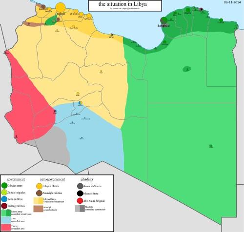 Mappa posizioni Libia
