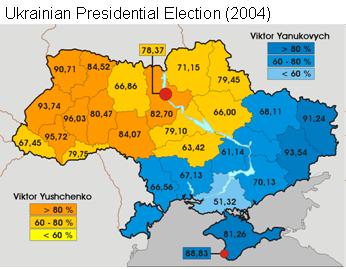 Distribuzione politica Ucraina