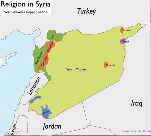 Mappa religiosa Siria