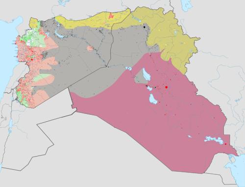 Mappa occupazione IS in Iraq e Siria