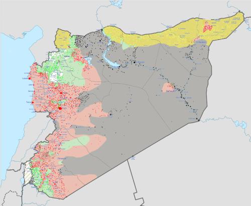 Mappa occupazioni Siria