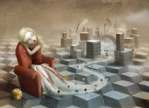 The Girl in the Castle Inside the Museum di Nicoletta Ceccoli