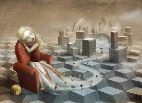 The Girl in the Castle Inside the Museum di Nicoletta Ceccoli