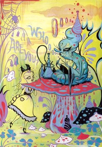 From 'Alice in WOnderland' serie, by Camille Rose Garcia