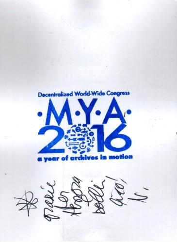 MYA 2016 by Vittore Baroni