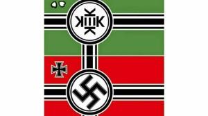 La bandiera del Kekistan e quella nazista a confronto